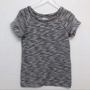 Lou & Grey | Rolled Sleeve Marled Crew Sweater